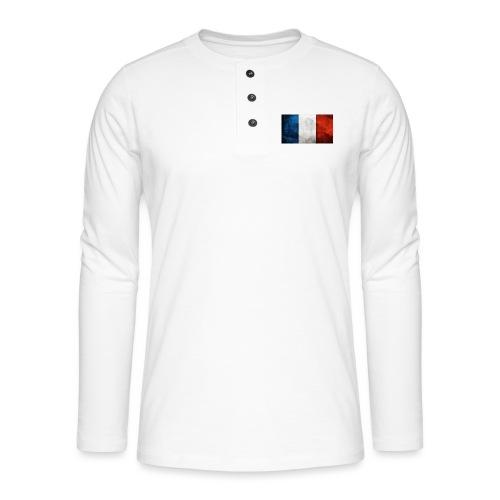France Flag - Henley long-sleeved shirt