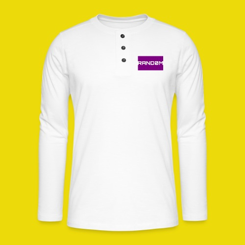 Random Logo - Henley long-sleeved shirt