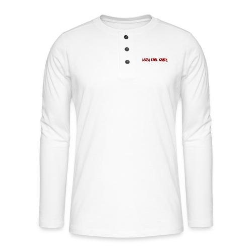 Dansk cool Gamer - Henley T-shirt med lange ærmer