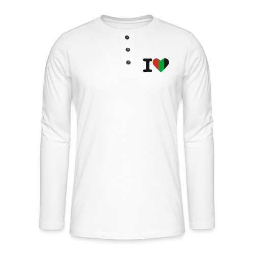hartjeroodzwartgroen - Henley shirt met lange mouwen