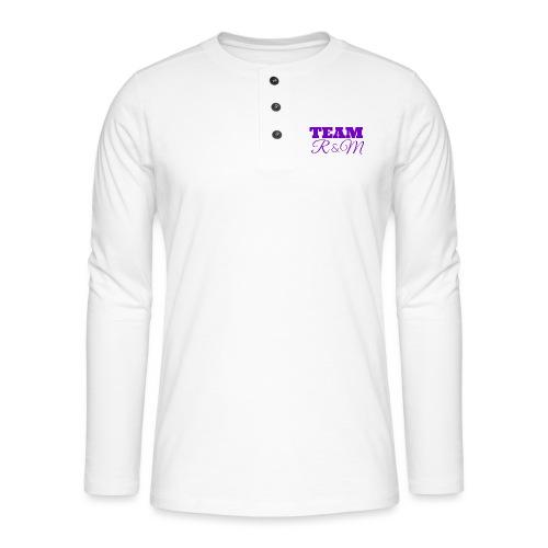 Team R N M Hoodie Purple, W - Henley long-sleeved shirt