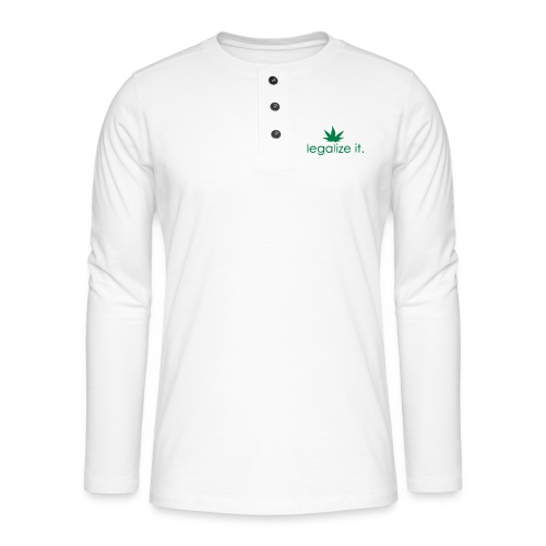 LEGALIZE IT! - Henley long-sleeved shirt
