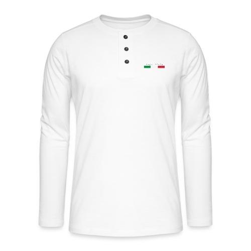 Info Italy Design - Maglia a manica lunga Henley