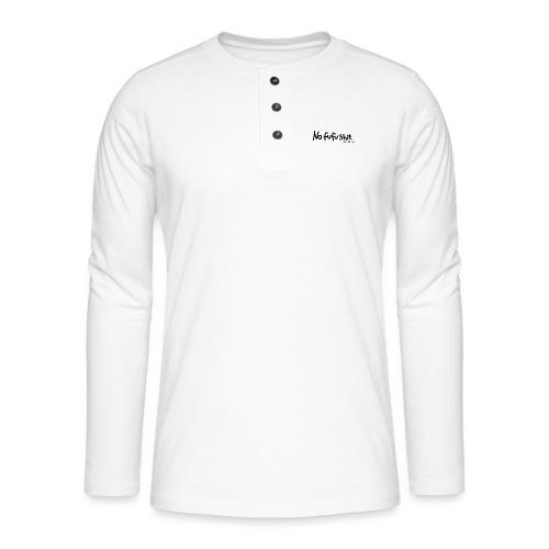 no fufu shit by brochner - Henley T-shirt med lange ærmer