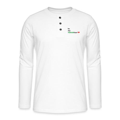 VEGANtine Green - Henley long-sleeved shirt