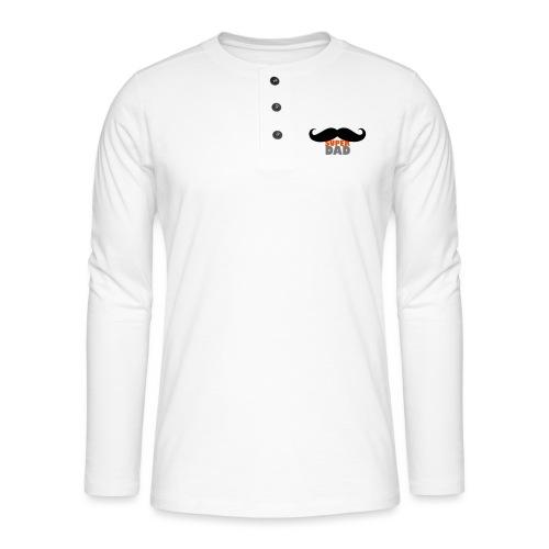 superdad moustache - Henley Langarmshirt