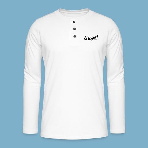 läuft - Wenns gut läuft - Henley Langarmshirt