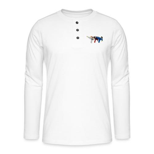 8 bit trip ninjas 2 - Henley long-sleeved shirt