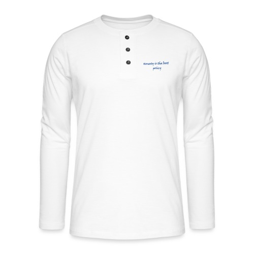 Proverbs in English - Henley long-sleeved shirt