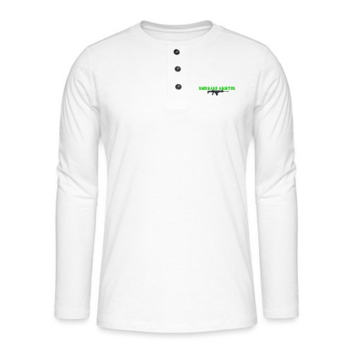 EMERALDARMYNL LETTERS! - Henley shirt met lange mouwen