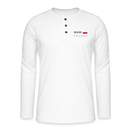 WAW POLSKA dark-lettered 400 dpi - Henley long-sleeved shirt