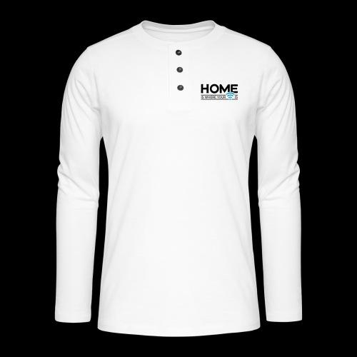 home is where … wi-fi - Henley Langarmshirt