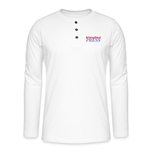 int_press-png - Maglia a manica lunga Henley