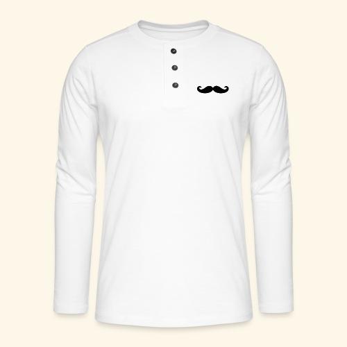 Loco Moustache - Henley shirt met lange mouwen