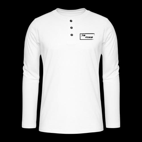 Design 1 Black Edition - Henley Langarmshirt