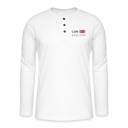LON ENGLAND BF dark-lettered 400 dpi - Henley long-sleeved shirt
