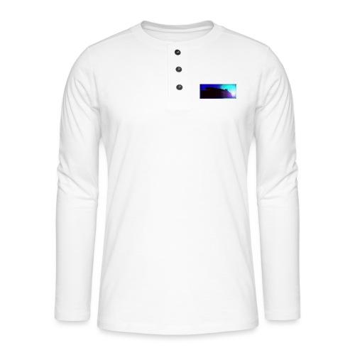 Silhouette of Edinburgh Castle - Henley long-sleeved shirt