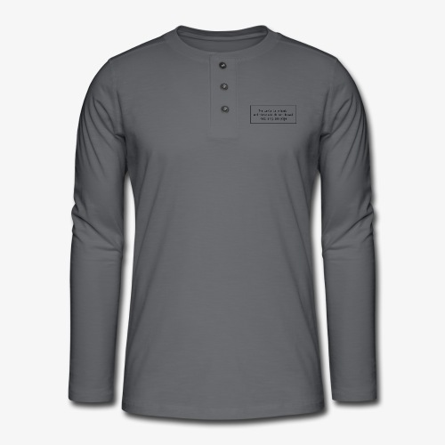Travel quote 1 - Henley long-sleeved shirt