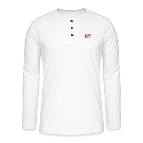 Double Games Tekst - Henley shirt met lange mouwen
