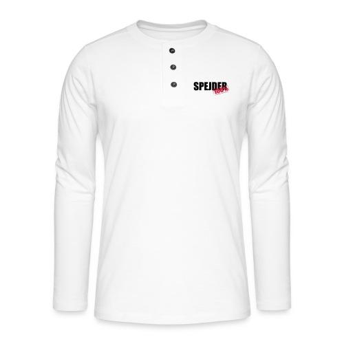 100procent spejder stempel - Henley T-shirt med lange ærmer