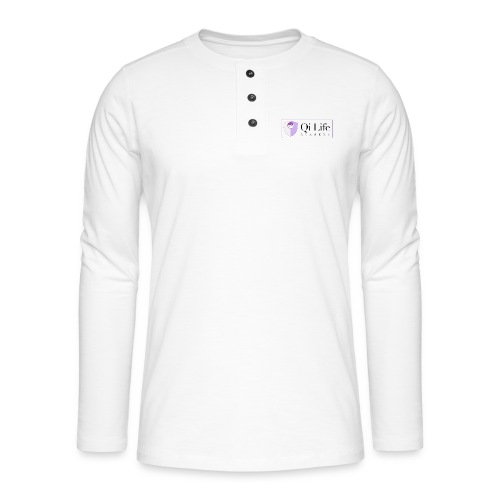 Qi Life Academy Promo Gear - Henley long-sleeved shirt