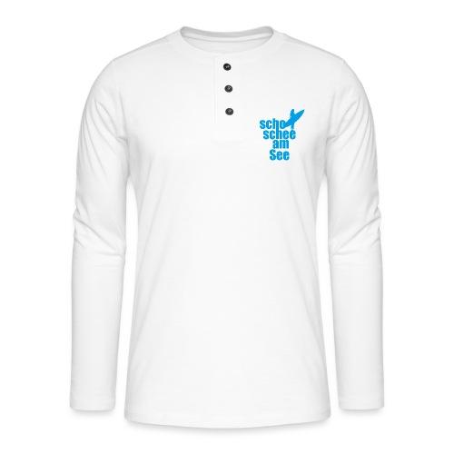 scho schee am See Surferin 02 - Henley Langarmshirt