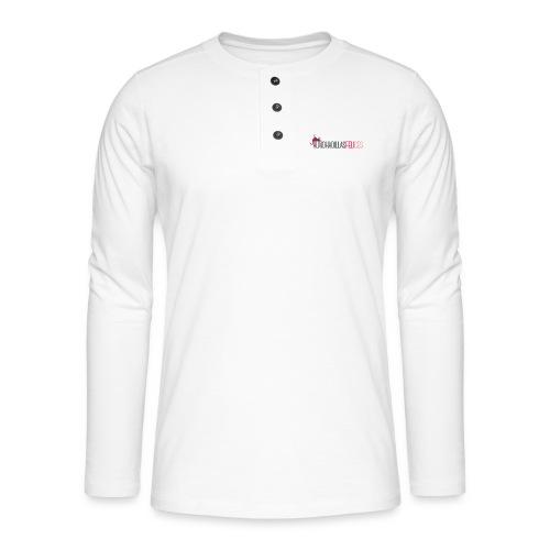 Almohadillas Felices Básico - Camiseta panadera de manga larga Henley
