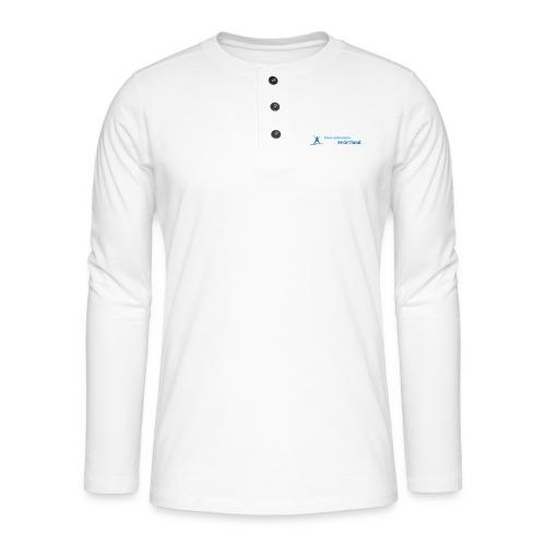 Logo Basisinkomen Nederland 2 - Henley shirt met lange mouwen