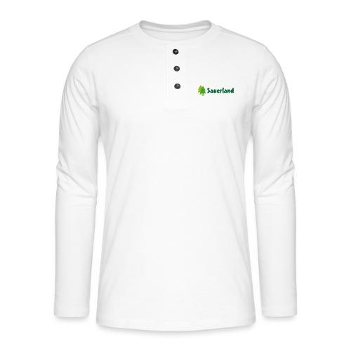 Sauerland -Schriftzug Tannen - Henley Langarmshirt