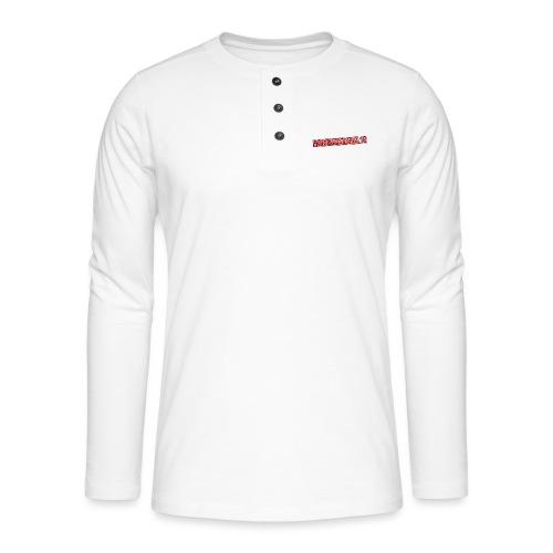 HamDerMikkel12 Text - Henley T-shirt med lange ærmer