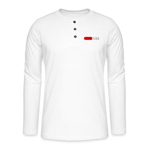 Livetube - Henley T-shirt med lange ærmer