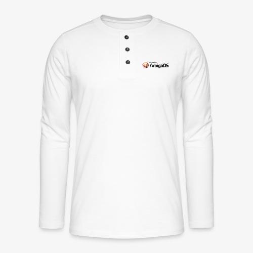 PoweredByAmigaOS Black - Henley long-sleeved shirt