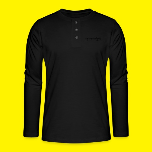 My Cup Overflows - Psalm 23: 5 - Henley long-sleeved shirt