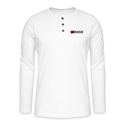 JMFootball Text Logo Top - Henley long-sleeved shirt