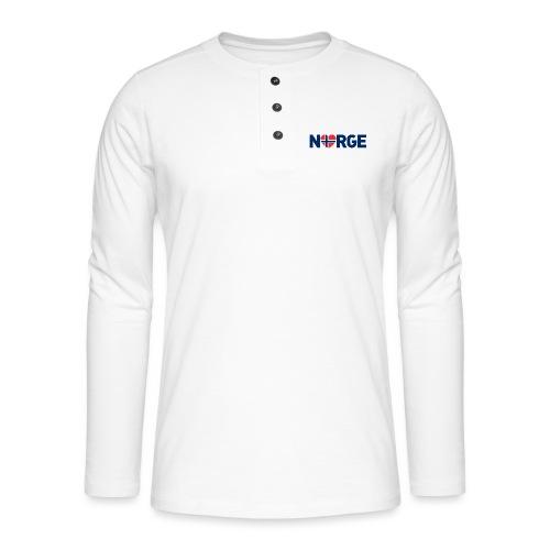 Elsker Norge - fra Det norske plagg - Henley langermet T-skjorte