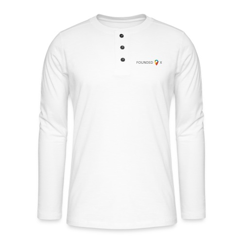 FoundedX logo png - Henley long-sleeved shirt