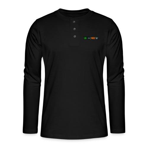 Ja ik maak websites - Henley shirt met lange mouwen