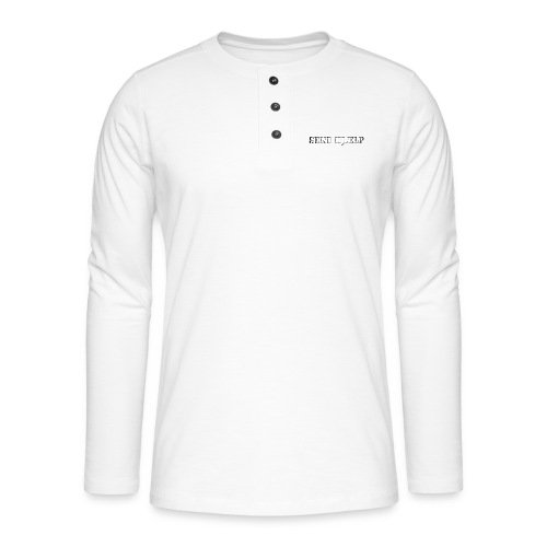 SEND HJÆLP T-shirt - Henley T-shirt med lange ærmer