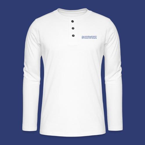 SCHWNZ - Henley shirt met lange mouwen