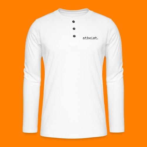 atheist BLACK - Henley long-sleeved shirt