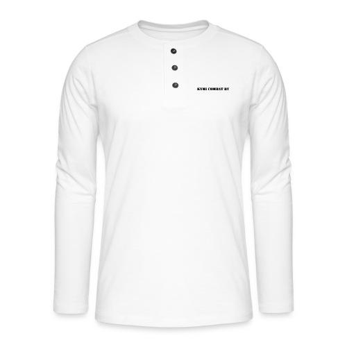 kc musta teksti transparent png - Henley pitkähihainen paita