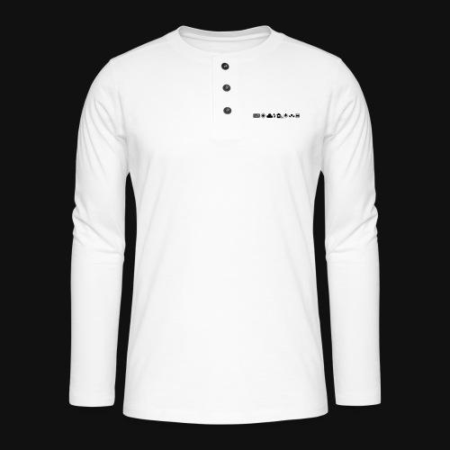 Weissabgleich Symbole Horizontal - Henley Langarmshirt