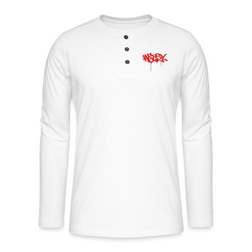 #EASY Graffiti Logo T-Shirt - Maglia a manica lunga Henley