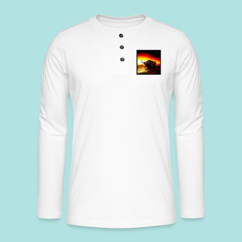 Wandering_Bull - Henley long-sleeved shirt