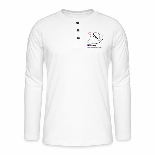 Ein dekorativer Punkt - Henley Langarmshirt