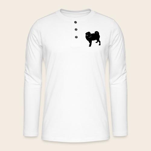 mops - Henley Langarmshirt