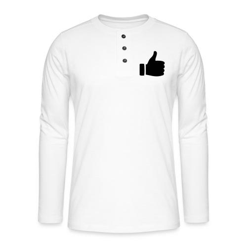 I like - gefällt mir! - Henley Langarmshirt