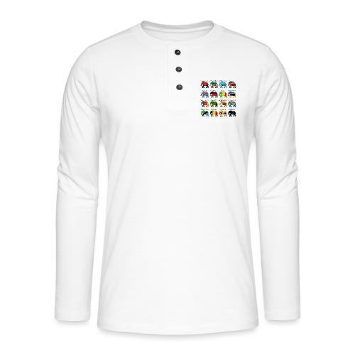 ELEFANTEN AFRIKAS mit Flaggen - Henley Langarmshirt