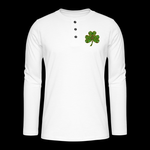 Celtic Knotwork Shamrock - Henley long-sleeved shirt