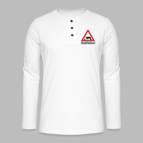 Warnschild Modellbahner Dampflok - Henley Langarmshirt